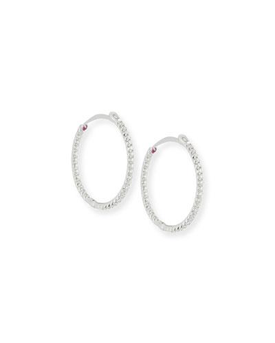 Diamond Hoop Earrings, 2.55 mm
