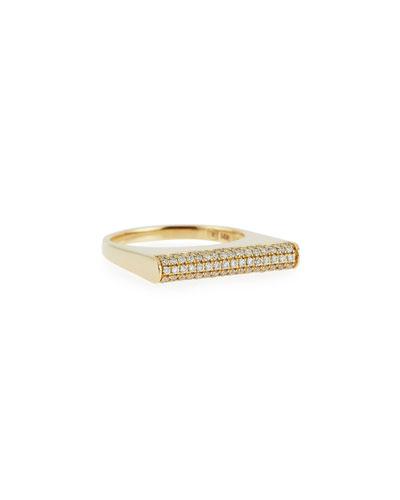 Sydney Evan Lapis Roll Bar Ring with Diamonds, Size 6.5