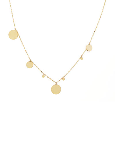 Gypsy 14k Gold Disc-Charm Necklace, 20