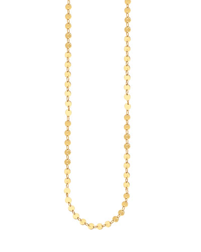 14k Elite Mirror Disc Chain Necklace, 36