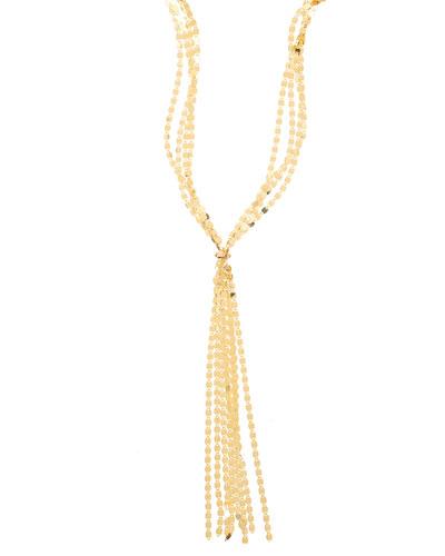 Mega Nude Fringe Necklace in 14K Yellow Gold