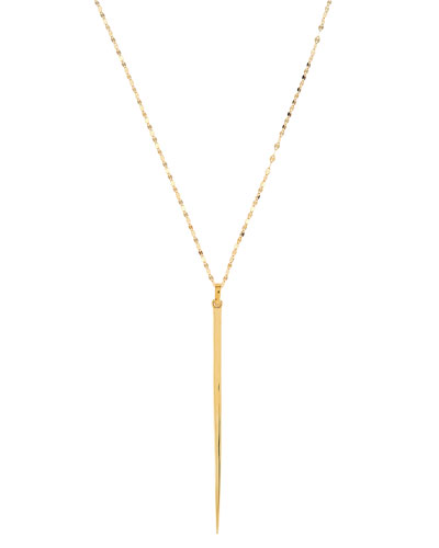 14K Sheer Pendant Necklace