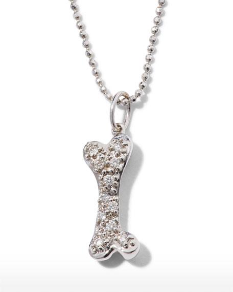 Sydney Evan 14k Gold & Diamond Dog Bone Pendant Necklace
