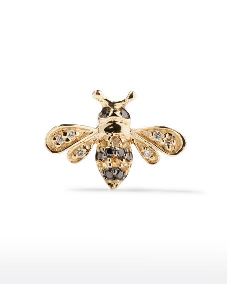 Sydney Evan 14k Gold Diamond & Sapphire Bee Stud Earring (Single)