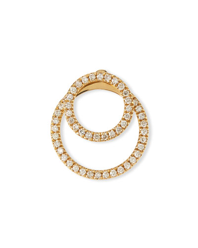 Pavé Diamond Double-Circle Jacket Earrings