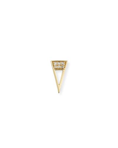 14k Diamond Open Stud Single Earrings