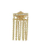 Bar Chain Single Stud Earring w/Pavé Diamonds