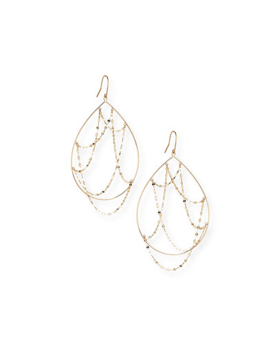 14k Gold Oval Web Earrings