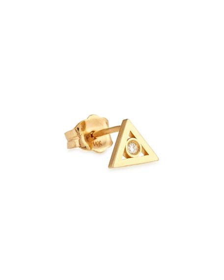 Sydney Evan 14K Gold Diamond Triangle Stud Earring