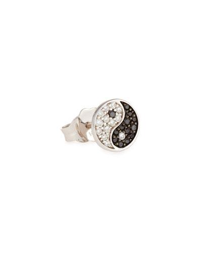 Yin Yang Stud Earring with Diamonds