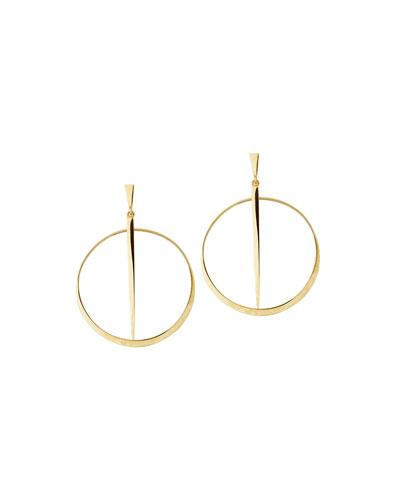 Small 14K Sheer Hoop Earrings