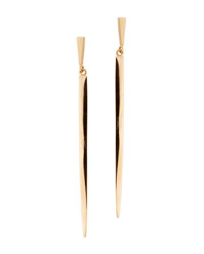 Short 14K Gold Sheer Earrings