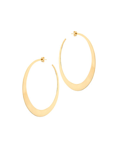 Large Gloss Hoop Earrings