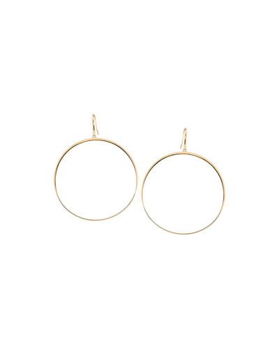 14k Large Gloss Bangle Hoops