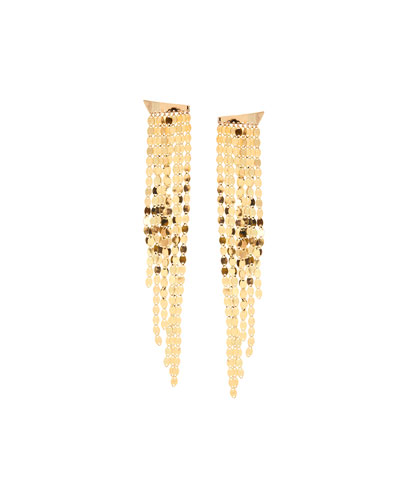 Nude Fringe Earrings in 14K Yellow Gold