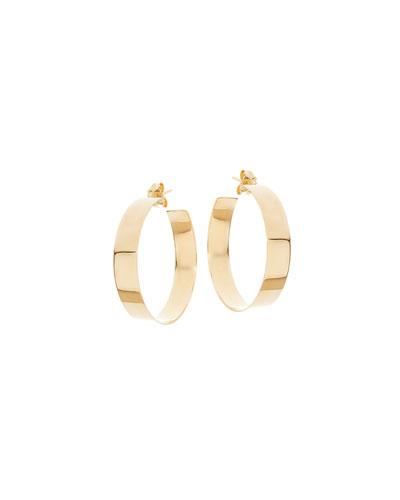 Medium Vanity 14K Hoop Earrings