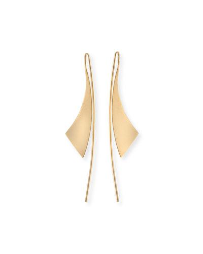 Small Gloss 14K Gold Hoop Earrings