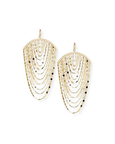 Large Nude Cascade Earrings