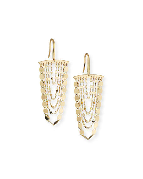 Lana Small Nude Cascade Earrings