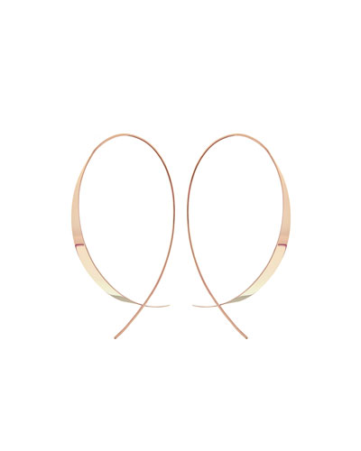Gloss 14K Upside Down Hoop Earrings
