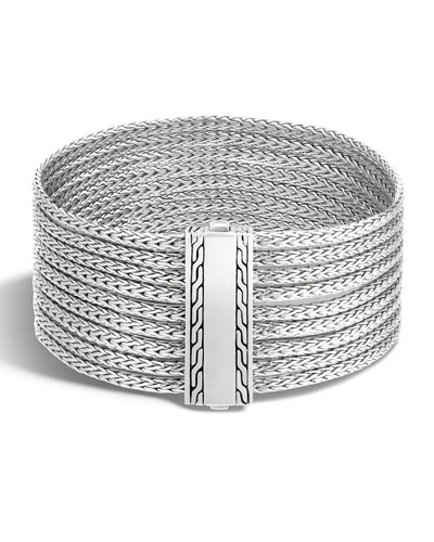Classic Chain Nine-Row Sterling Silver Bracelet