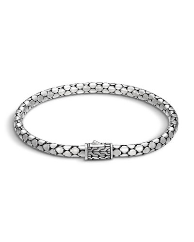 Dot Silver 4.3mm Small Chain Bracelet, Size M