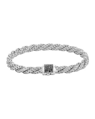 Classic Chain Extra-Small Silver Lava Bracelet