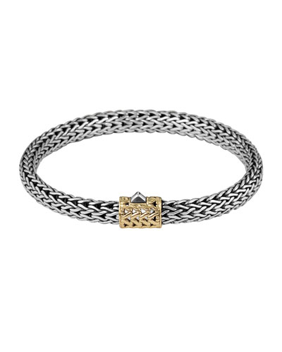 Gold-Accent Small Cable-Chain Bracelet