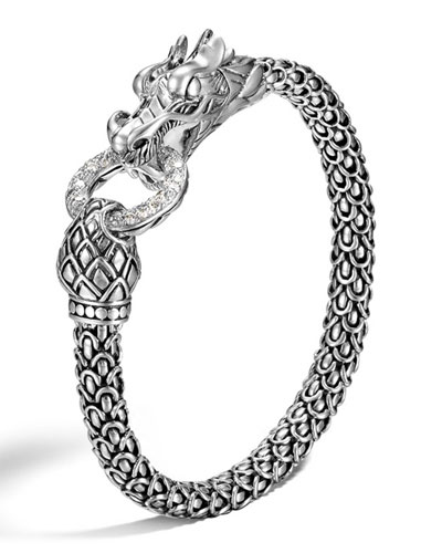 Legends Naga Dragon Bracelet with Diamond Link
