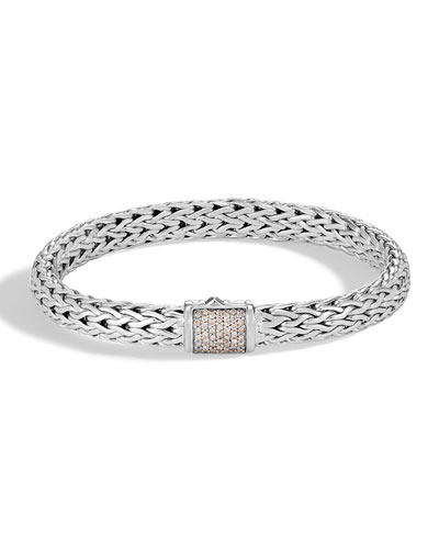 Diamond Pave Medium Chain Bracelet