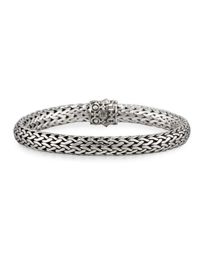 Dot Silver & 18k Gold Oval Bracelet