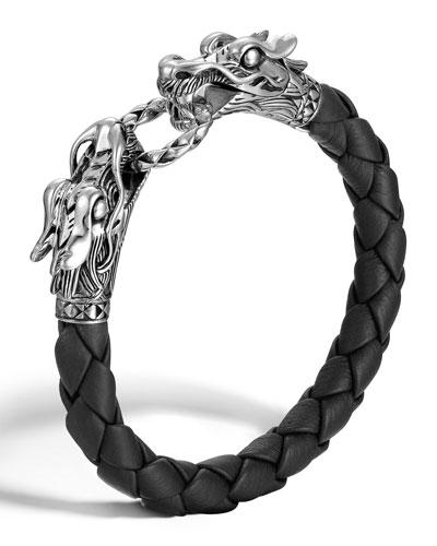 555a0bcc94686 Quick Look. John Hardy · Woven Leather   Dragon-Head Bracelet