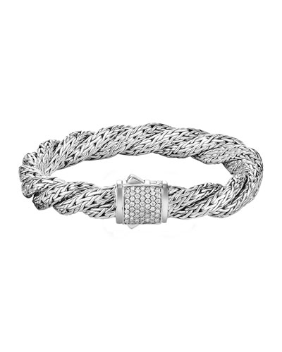 Classic Chain Twisted Diamond Bracelet