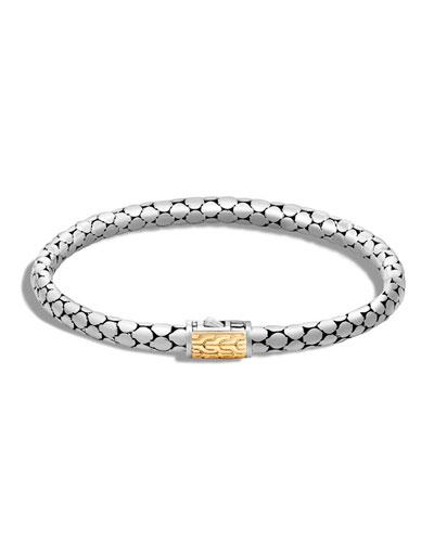 Dot Slim Sterling Silver Bracelet