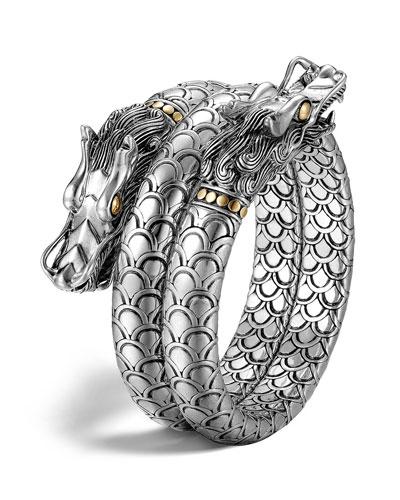 Naga Gold & Silver Double Coil Bracelet