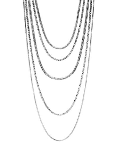 Classic Chain Five-Row Necklace, 17