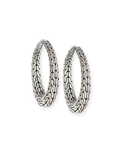 Classic Chain Hinged Hoop Earrings