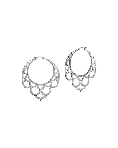 Naga Silver Lace Hoop Earrings
