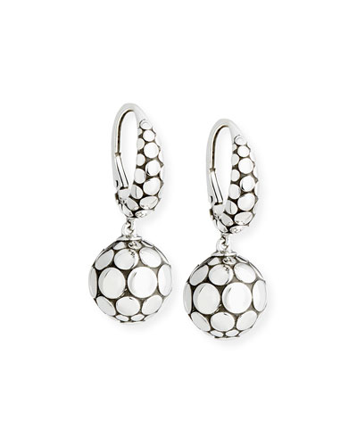 Dot Sterling Silver Drop Earrings