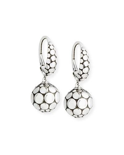 Dot Sterling Silver Drop Earrings