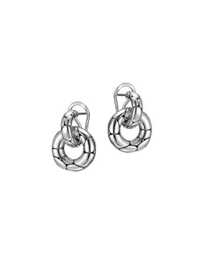 'Kali' Small Door Knocker Earrings in Silver