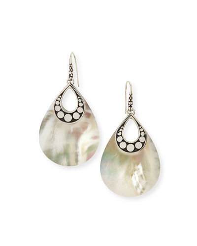 Dot Mother-of-Pearl Drop Earrings