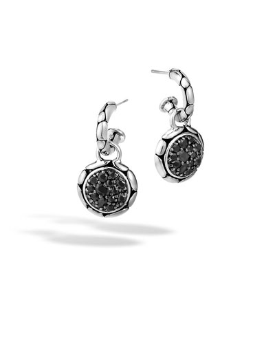 Kali Silver Lavafire Drop Earrings