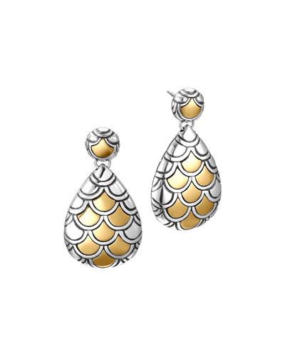Naga Gold & Silver Pearl-Shape Earrings