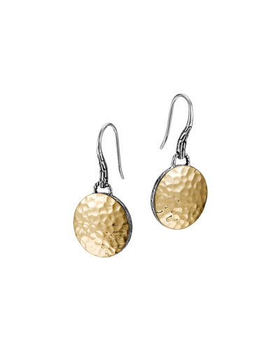 Palu Gold-Plate/Silver Round Drop Earrings