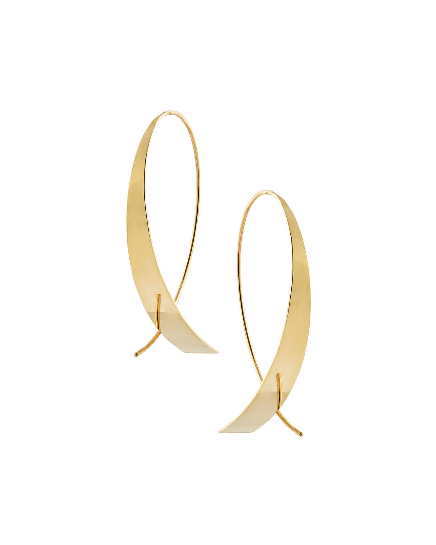 Bond Small Vanity Glam Upside Down Hoop Earrings