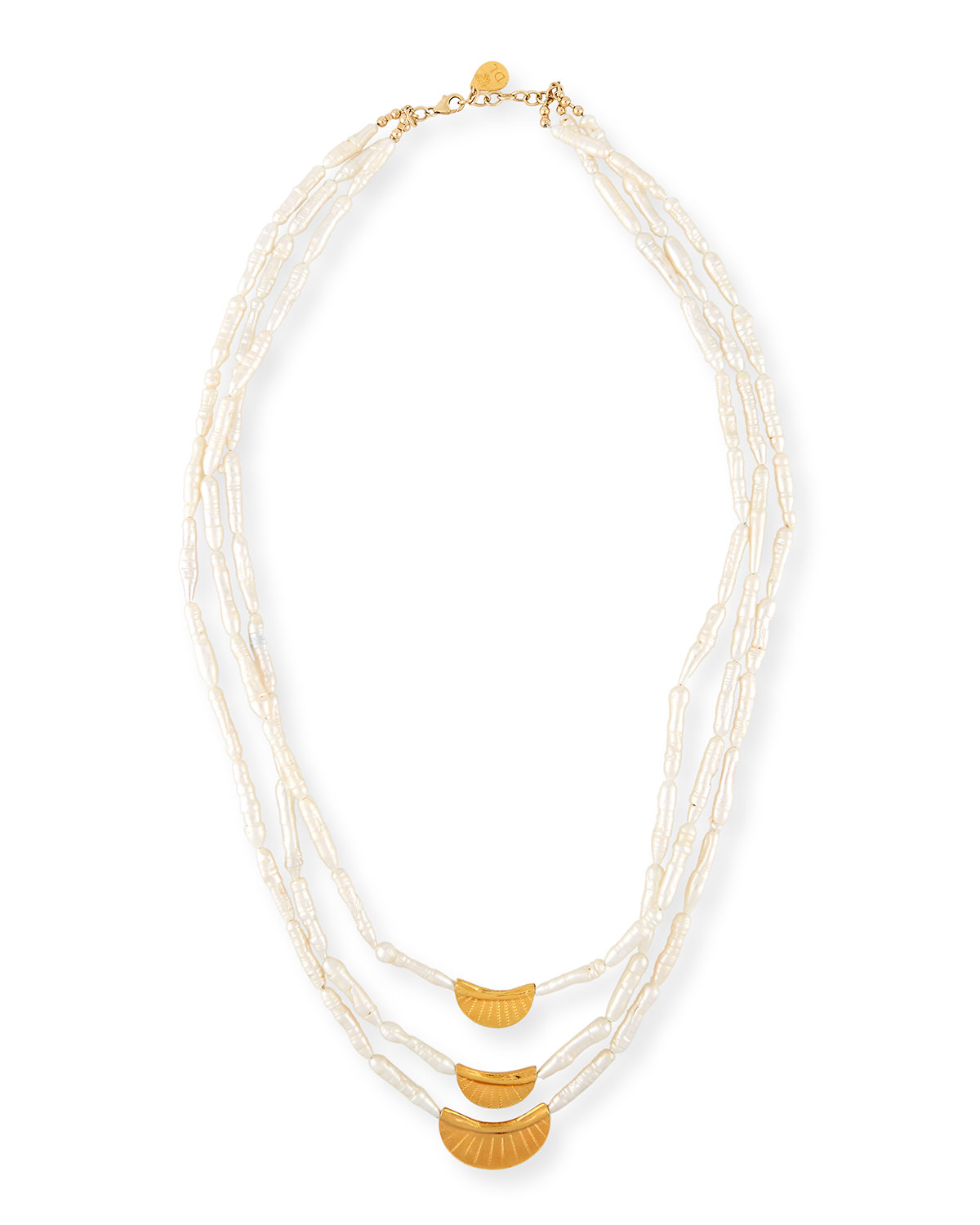 Three-Strand Stick Pearl Necklace