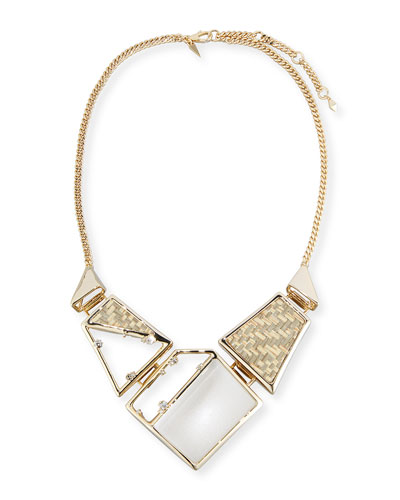 Raffia & Lucite Statement Necklace