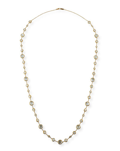18K Lollipop® Lollitini Long Necklace in Mother-of-Pearl Doublet & ...
