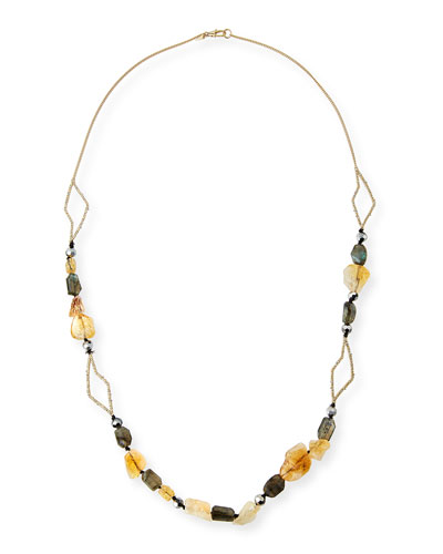 Crystal Layering Necklace, 38